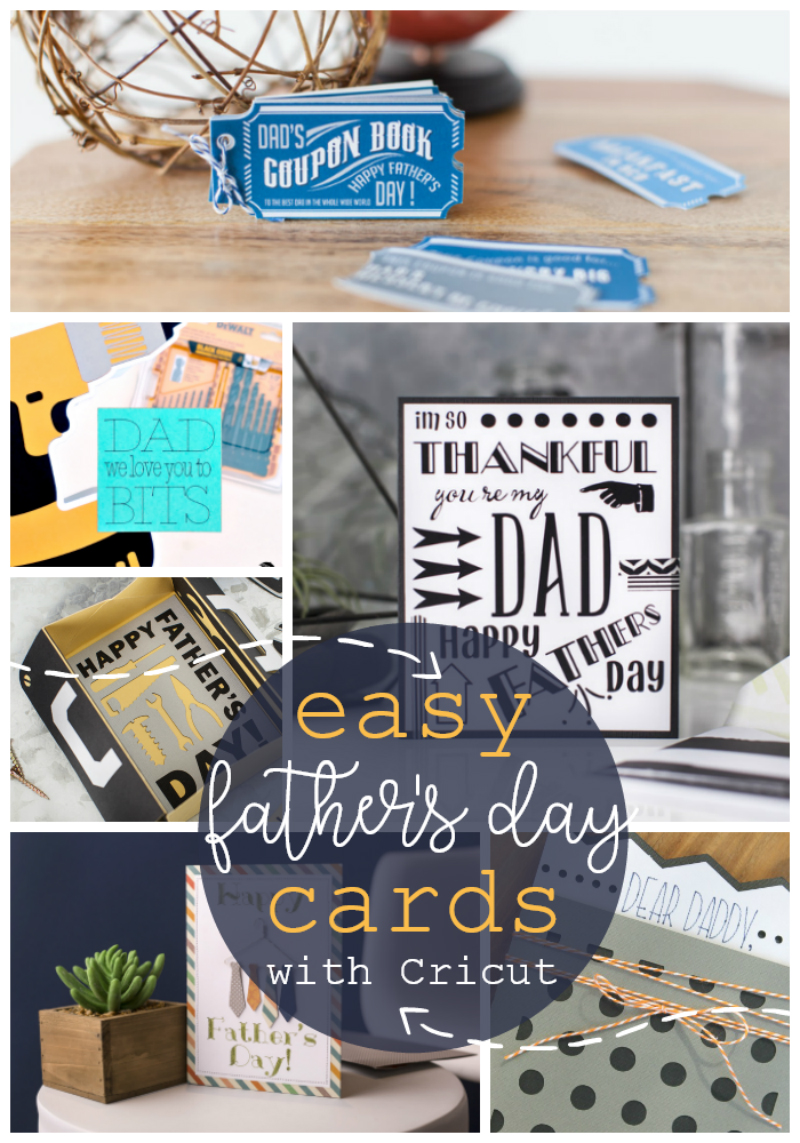 Fun Father's Day cards you can make with a Cricut