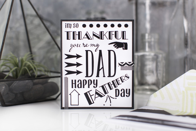 Father's Day Subway Art Card*