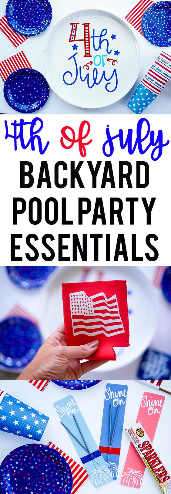 Patriotic Party Tray With Vinyl
