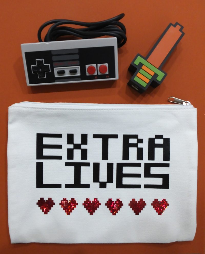 8-bit video game pouch