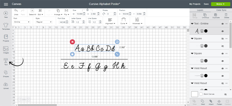 Create your design for the giant alphabet sign