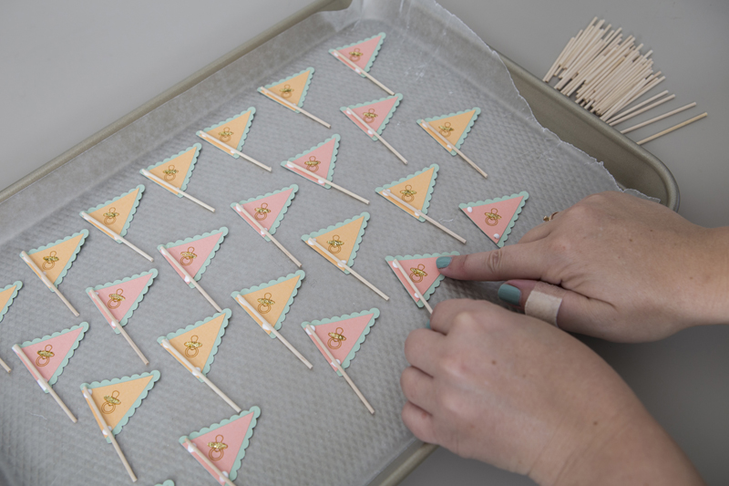 DIY Cupcake Wrappers + Cookie Flags