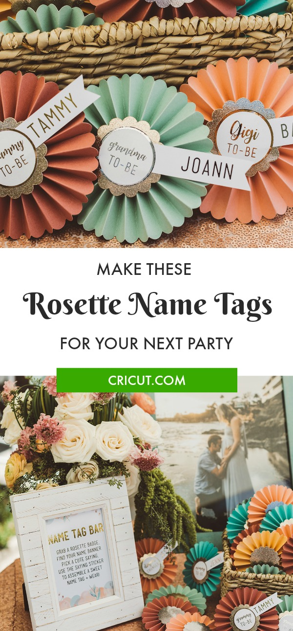 DIY Rosette Name Tags for your party guests