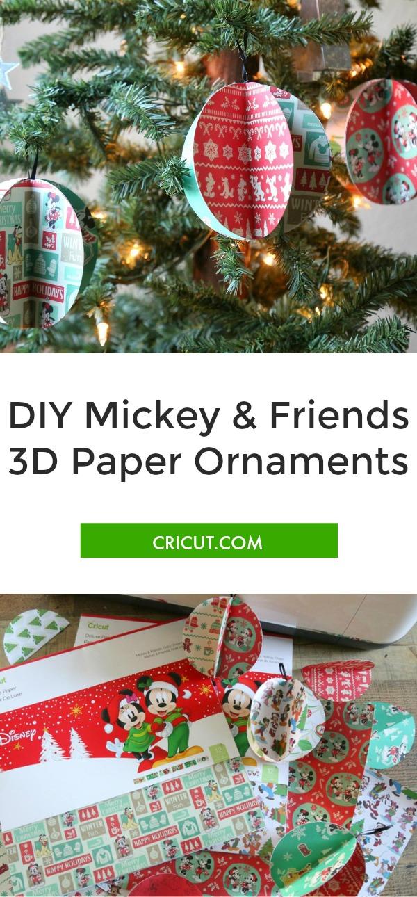 DIY Mickey & Friends 3D Paper Ornaments