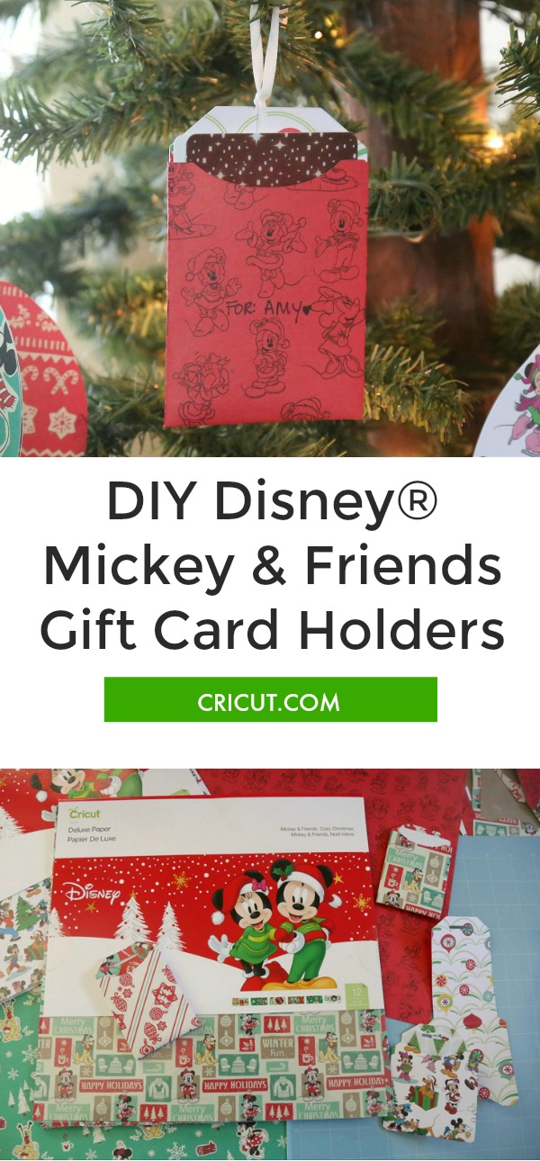 DIY Mickey & Friends Gift Card Holders