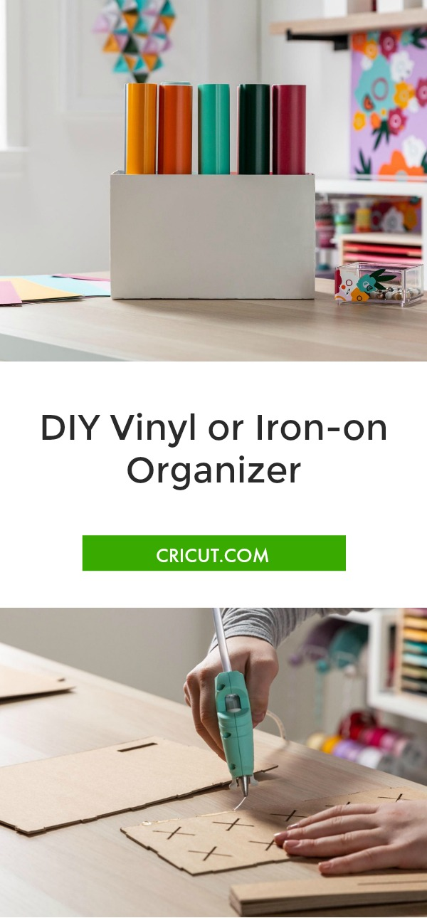 DIY vinyl organizer, iron-on organizer