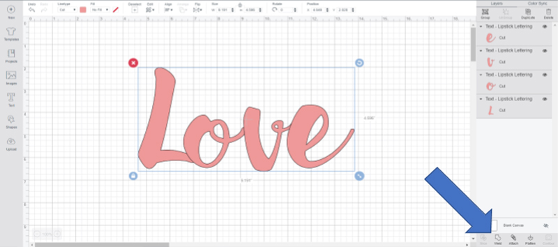 Using the weld tool in Cricut Design Space