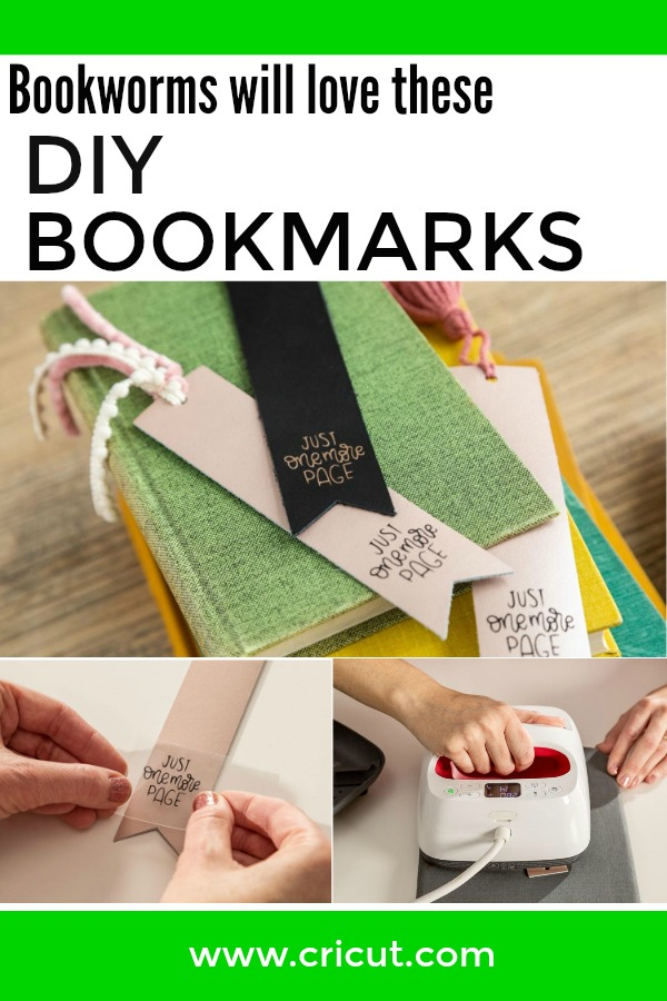 DIY Just One More Page Leather Bookmark
