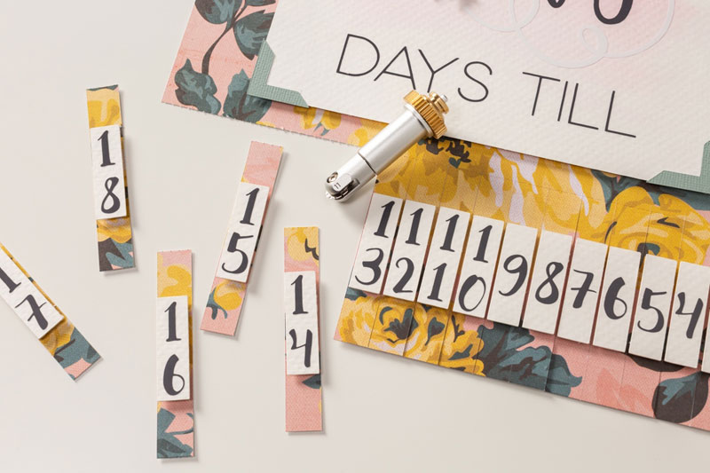 Cricut advent calendar with perforation blade tool