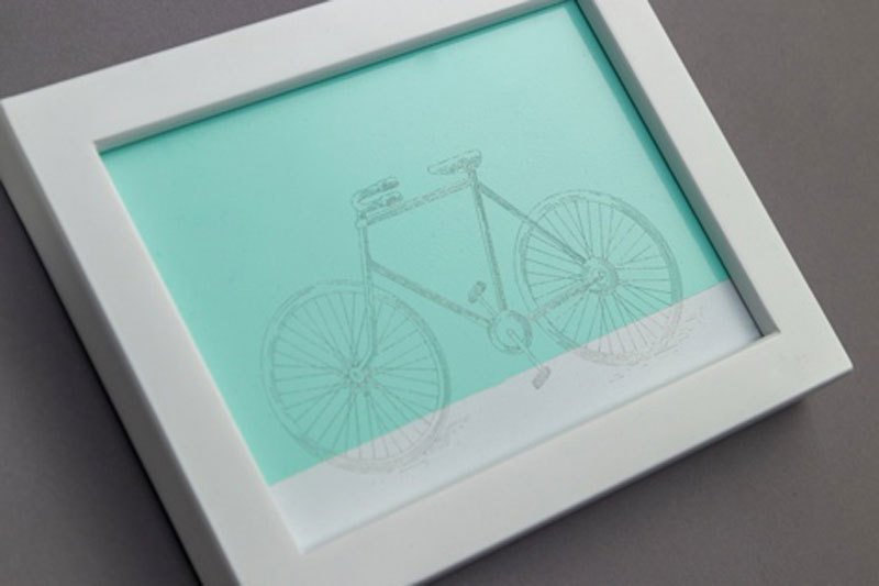 Cricut Engraved Bike Art Project