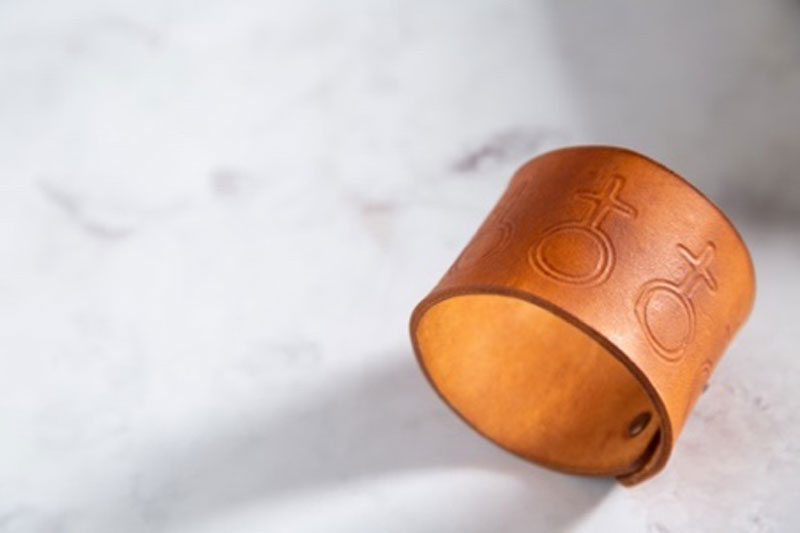 Leather Bracelet Decorated by the Cricut Maker Fine Debossing Tool