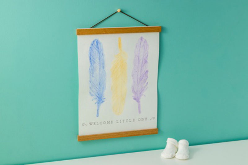 "Cricut ""Welcome Little One"" Engraved Watercolor Paper Project"