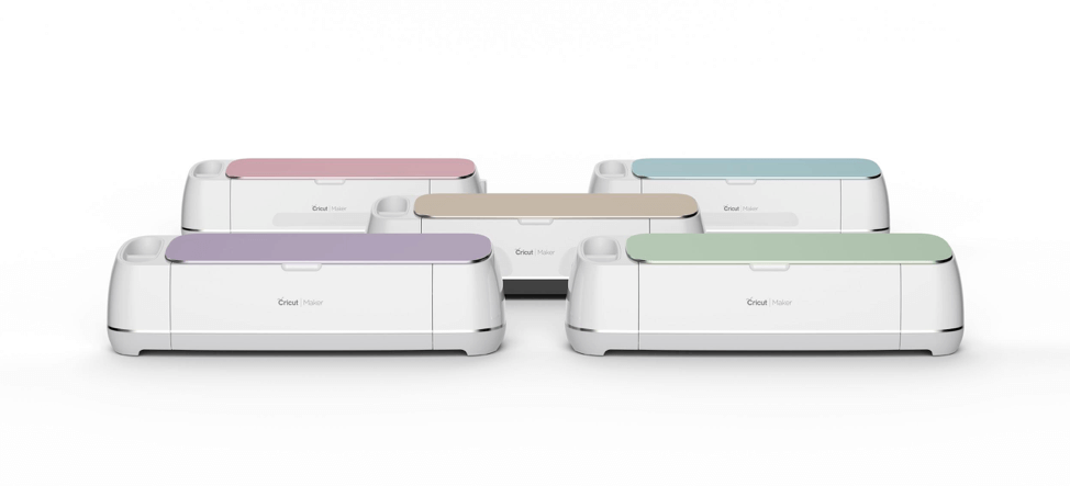 Cricut Maker smart cutting machines in five different colors