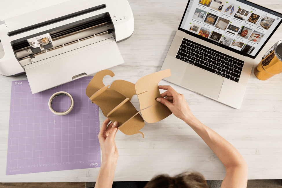 Cricut Maker with 3D elephant project