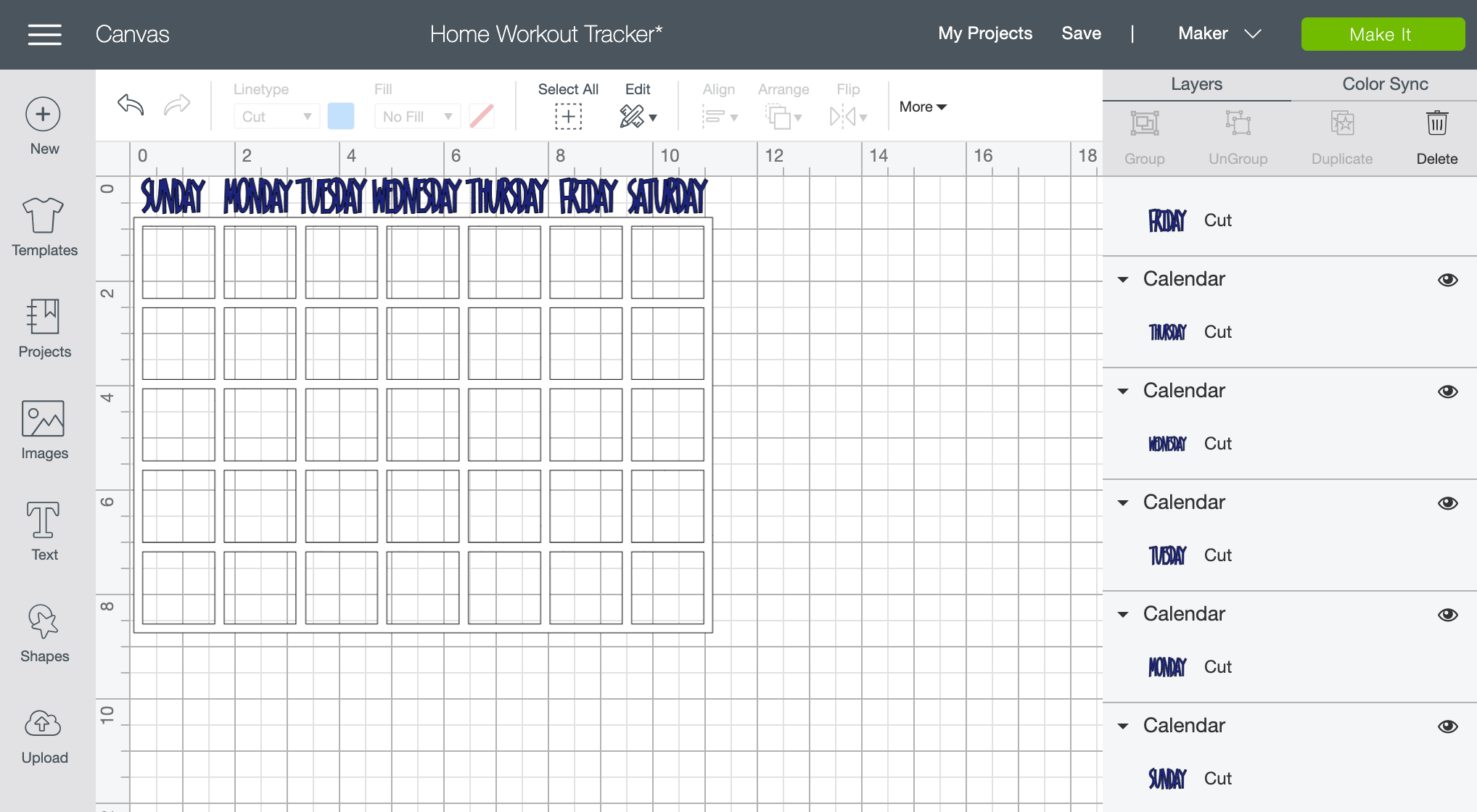 At Home Workout Tracker