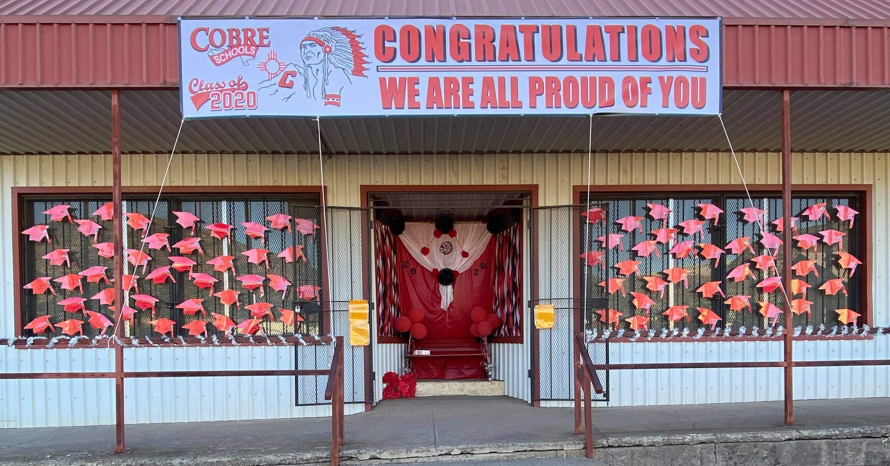 Anna Villalobos Graduation Storefront Photo Booth for Cobre High School Class of 2020