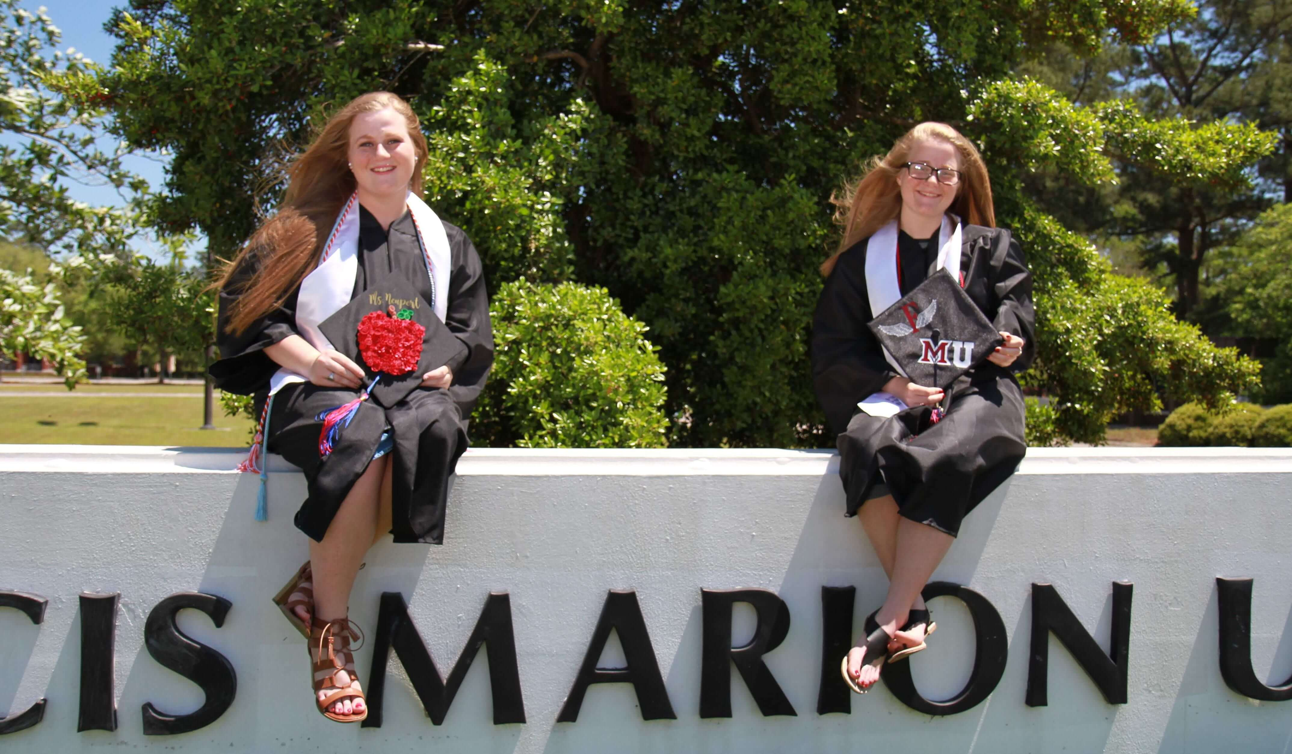 Melayna and Deannah Neupert Graduating from Francis Marion University