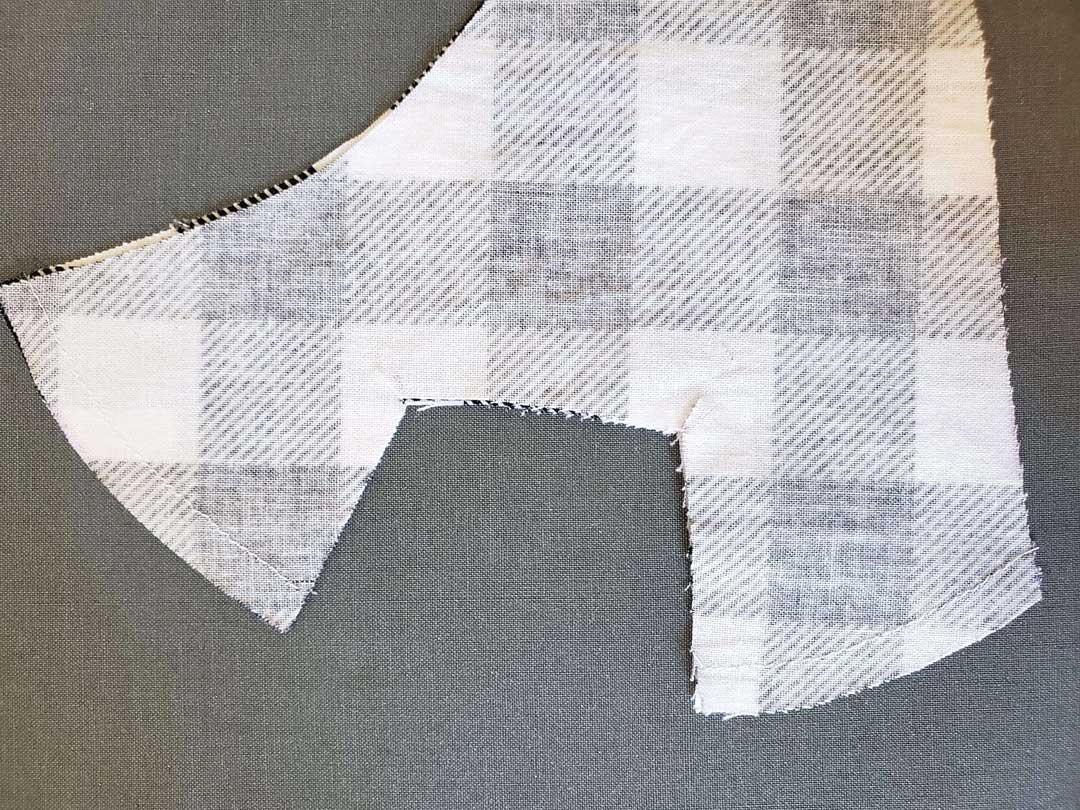 Stitching layer of fabric for face mask with window