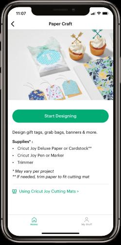 Cricut Joy app paper craft feature