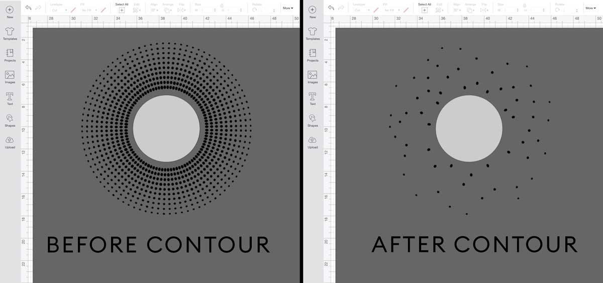 contouring sunburst images in Design Space