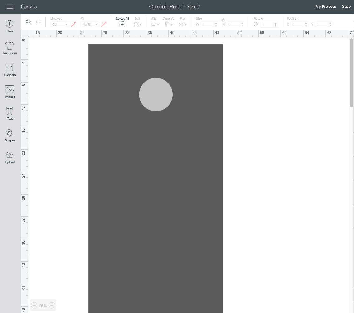 cornhole board platform template on Design Space