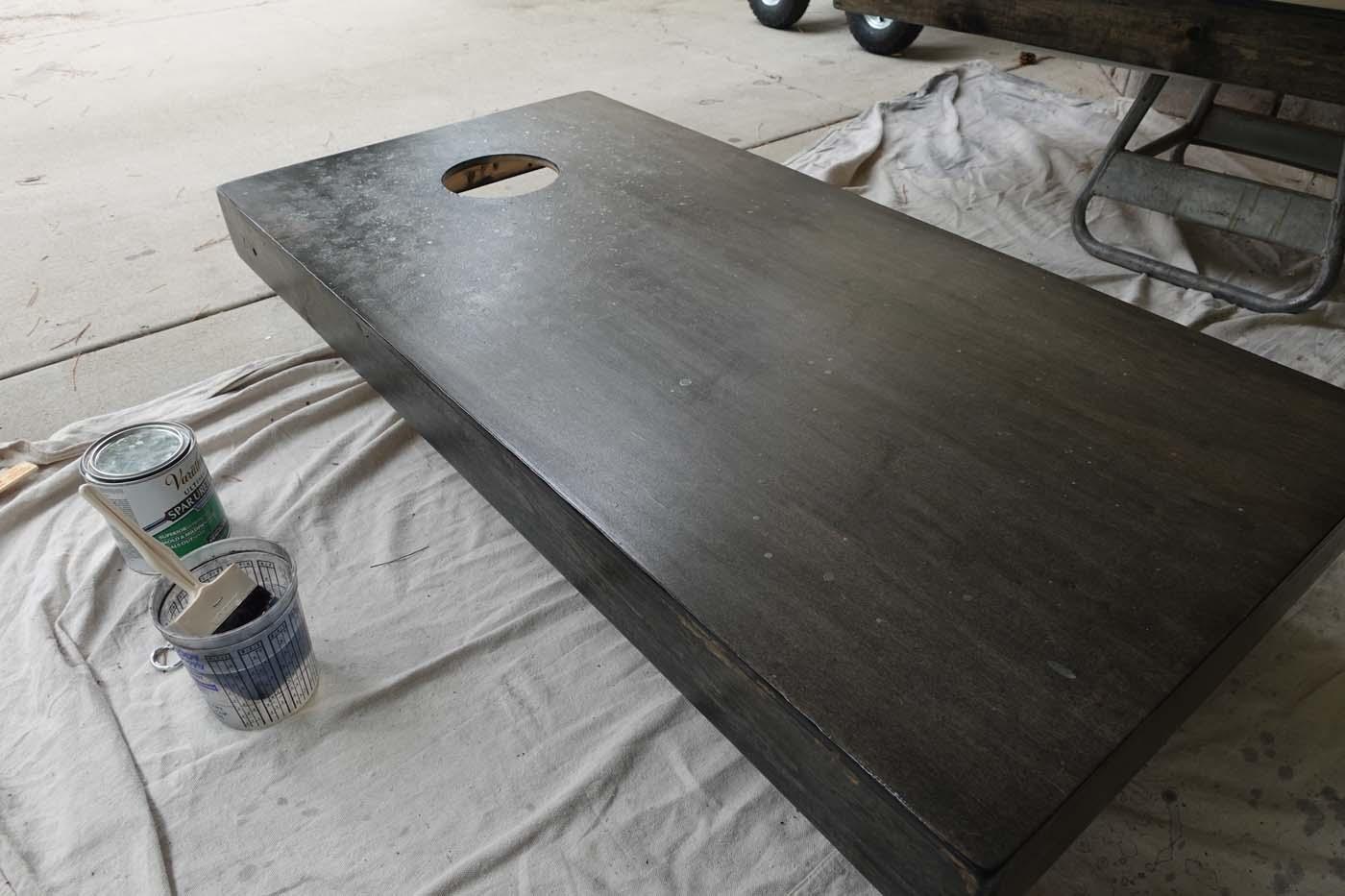 Polycoating custom cornhole boards