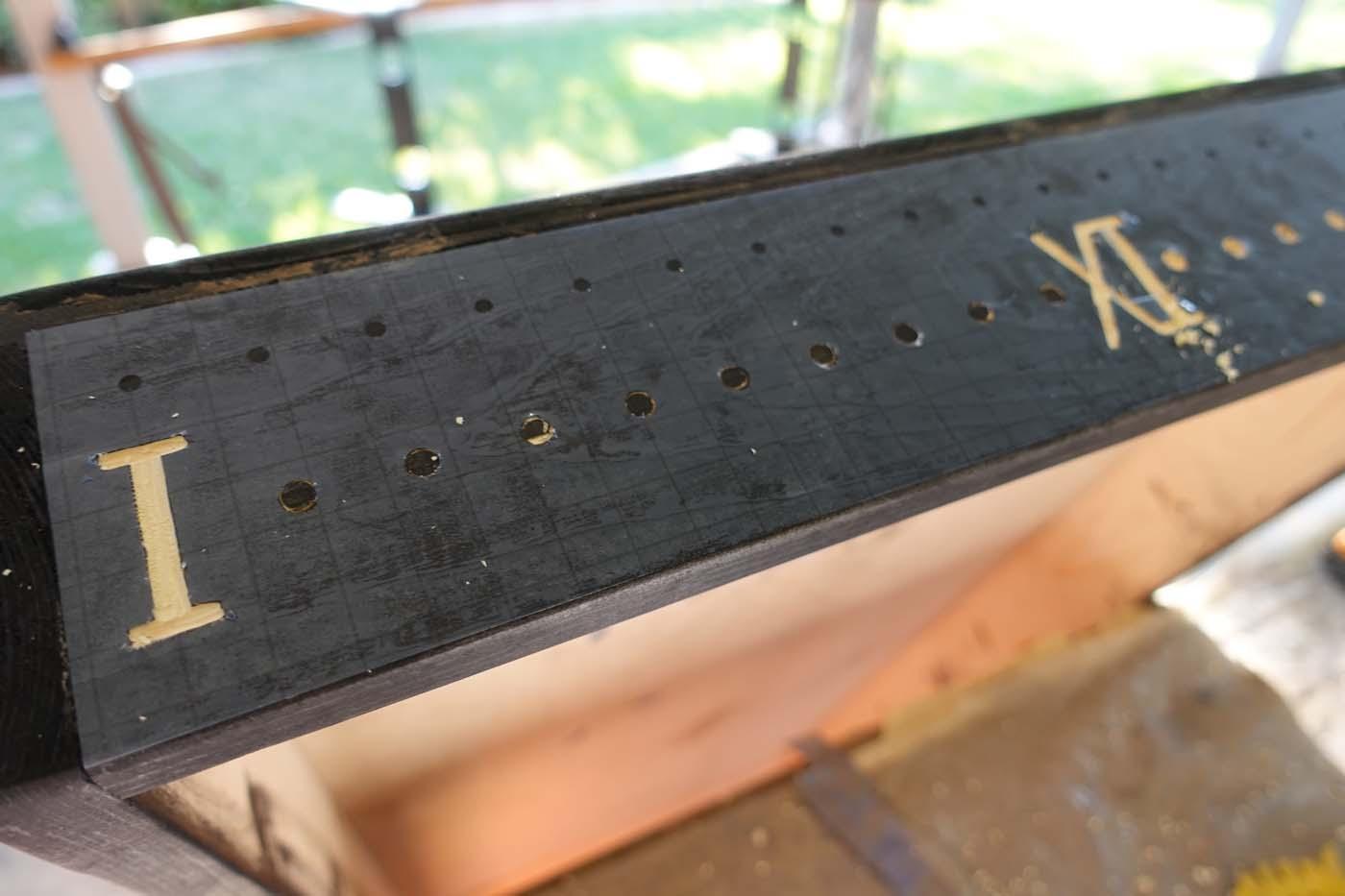 Carving a cornhole scoreboard with a Cricut stencil