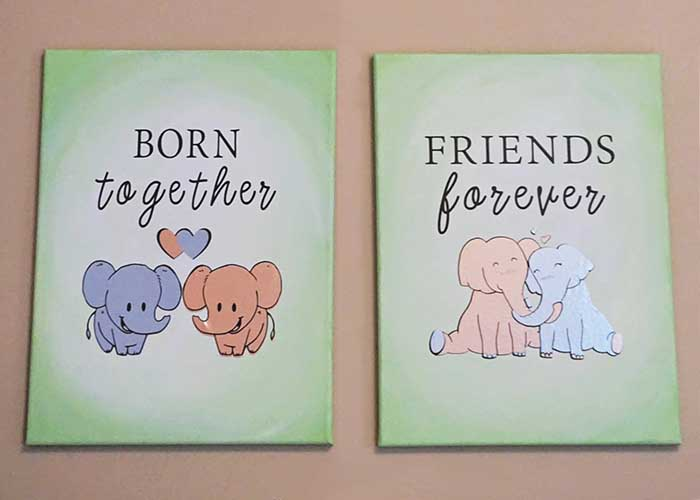 Twins nursery decoration idea