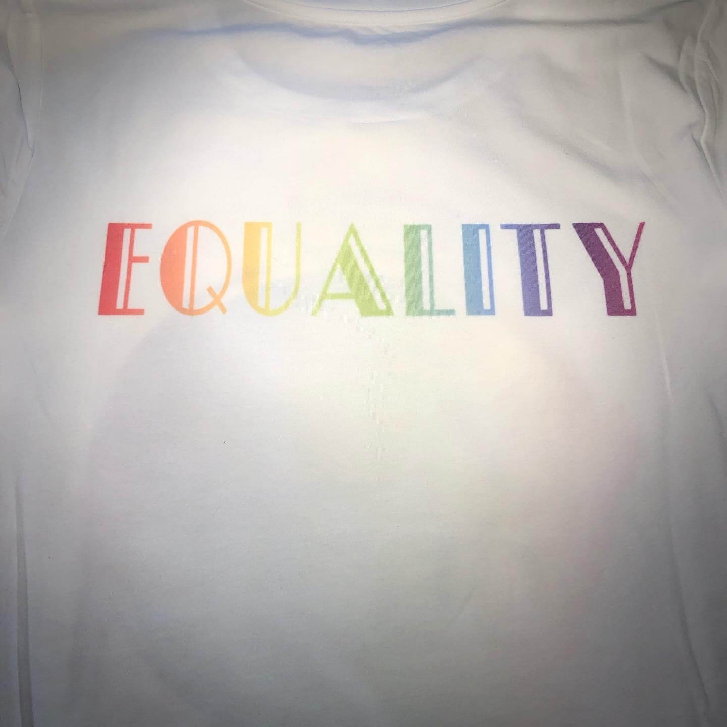 Equality Pride shirt with Cricut Infusible Ink
