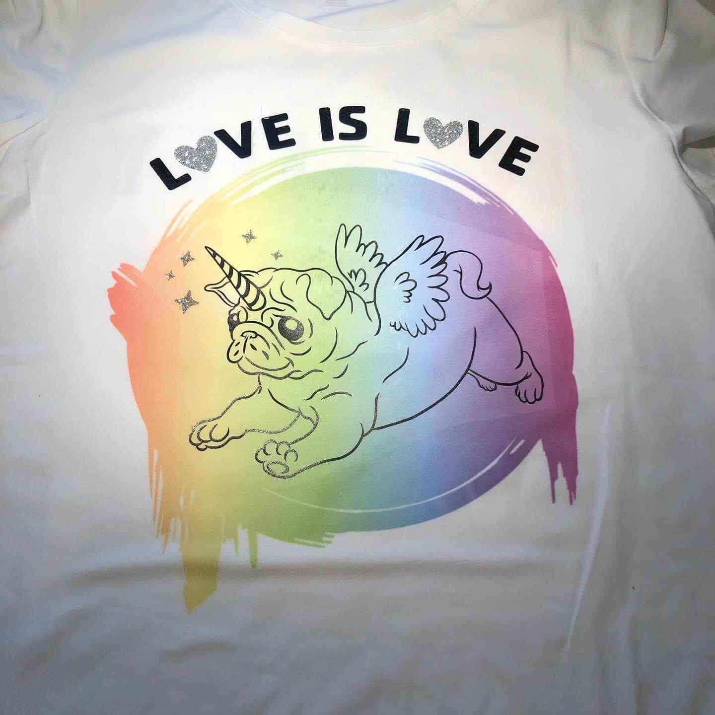 Love is Love Pride shirt using Cricut Infusible Ink