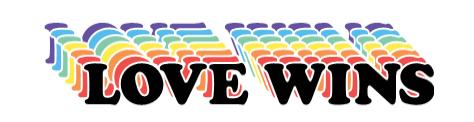 Love Wins graphic from Cricut Pride image set