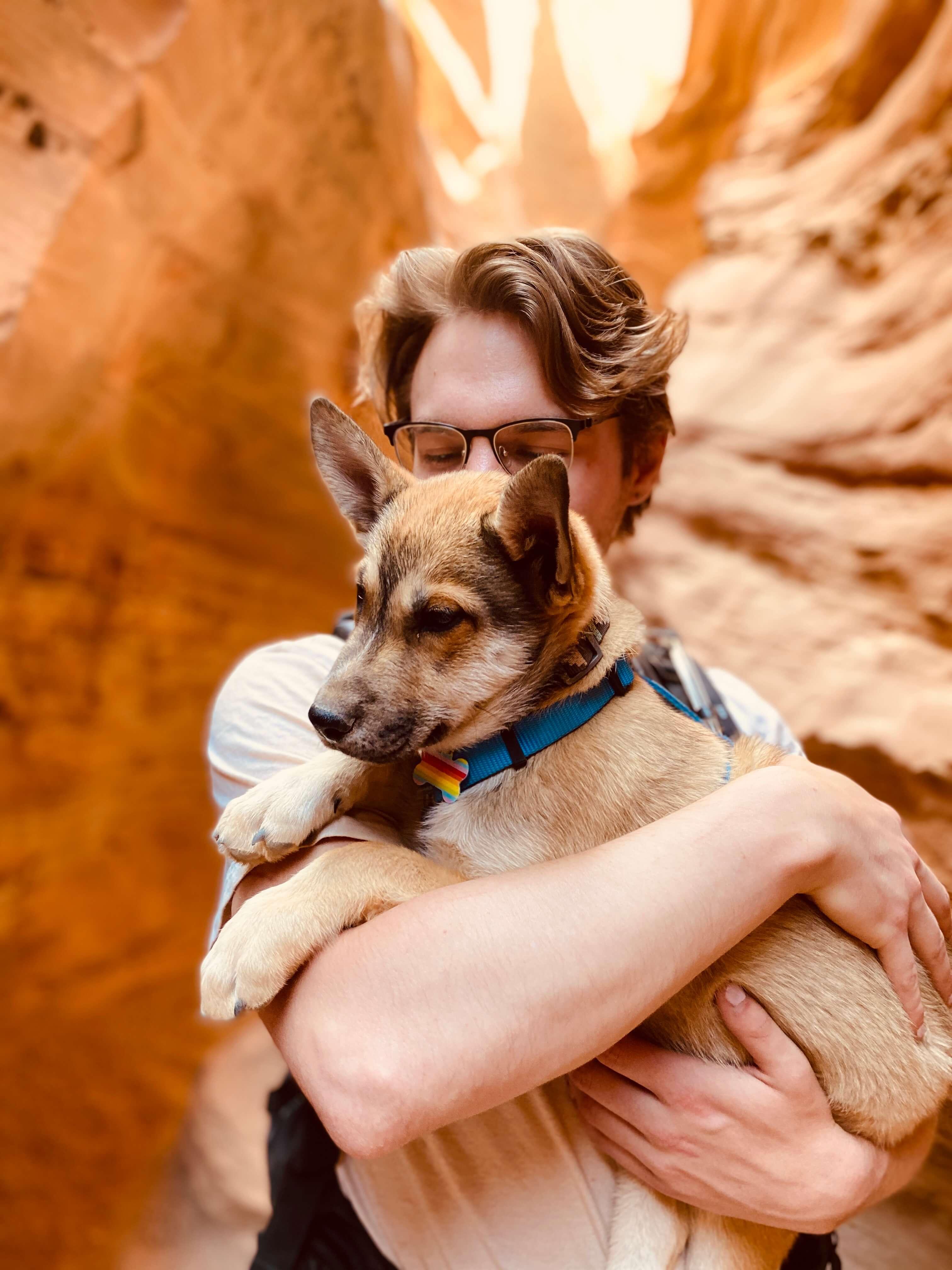 Taegon Ludwig and pup, Elio