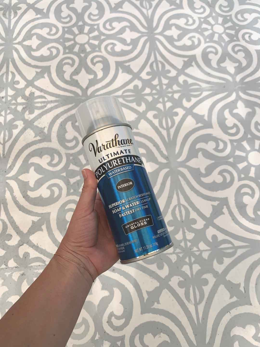polyurethane spray for concrete rug