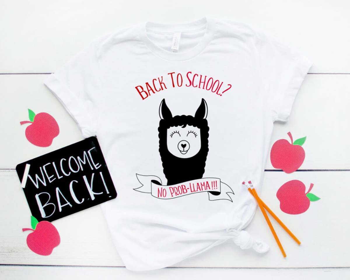Hello Creative Family back-to-school No Prob-llama T-Shirt