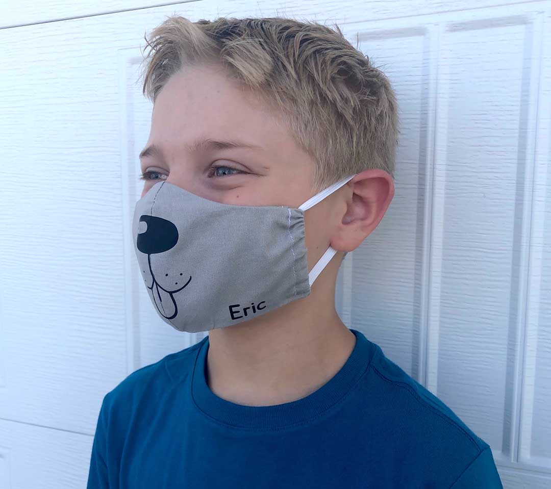 Doggy face mask design from Cricut Design Space