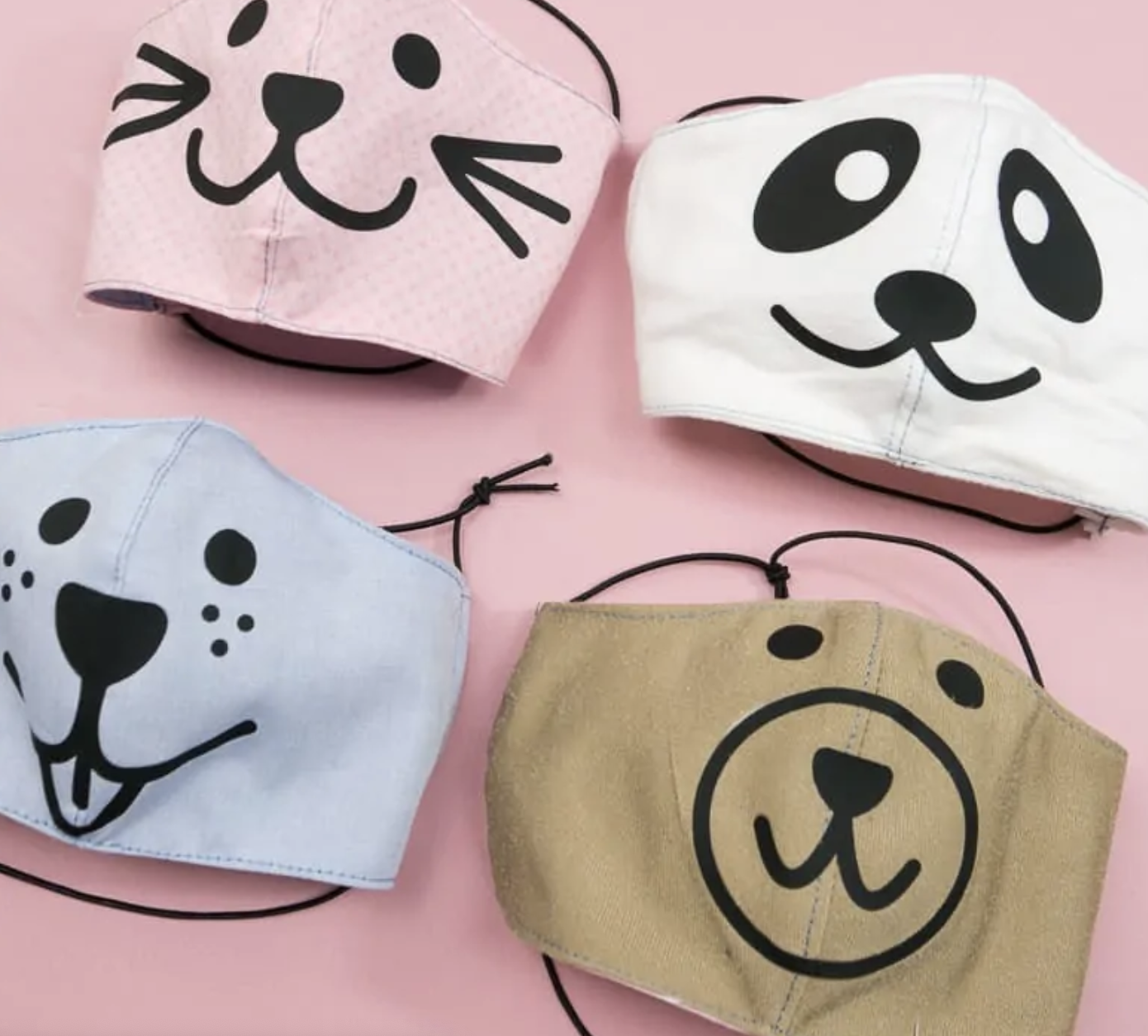 Animal face mask designs