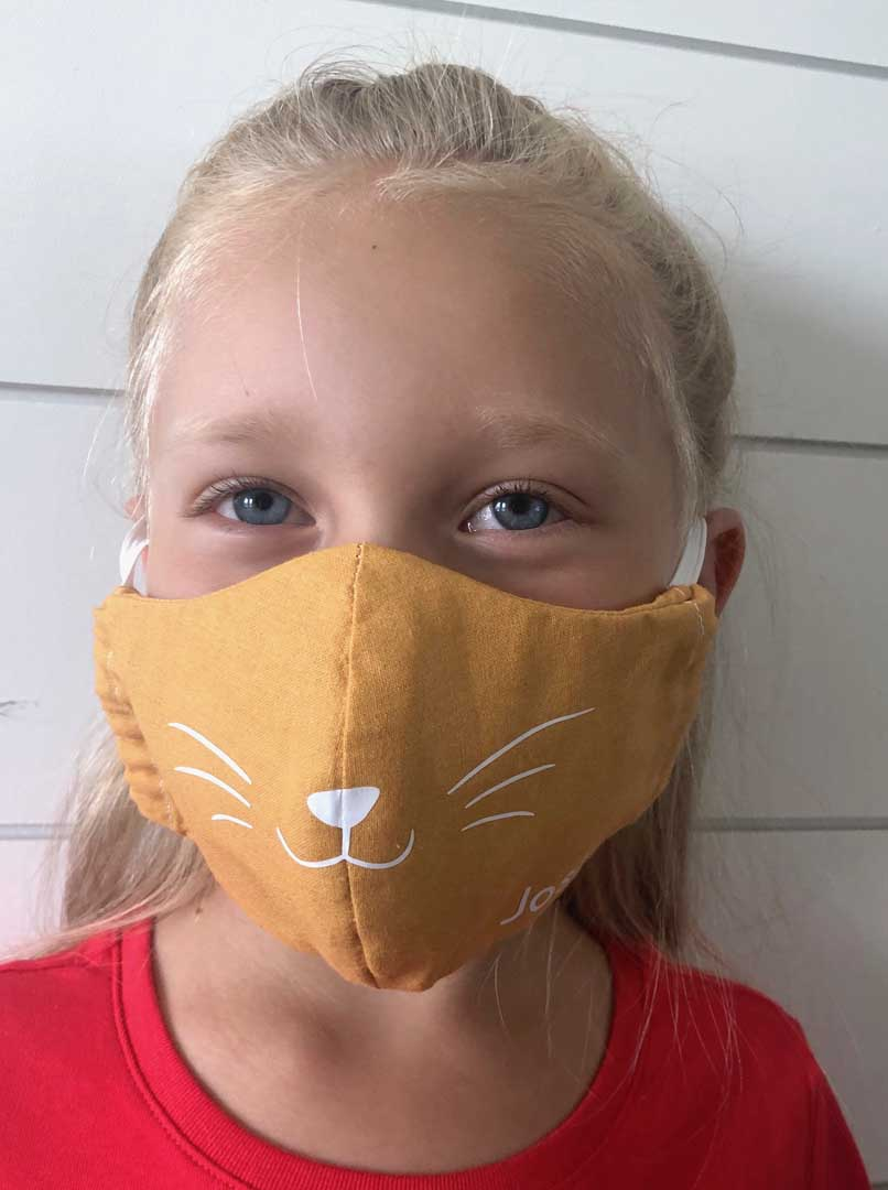 Cat face mask design from Cricut Design Space
