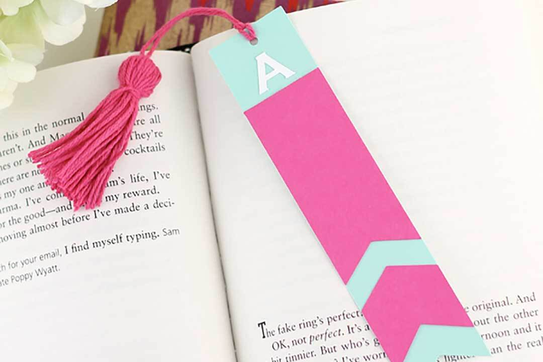 Custom made bookmark using a Cricut machine
