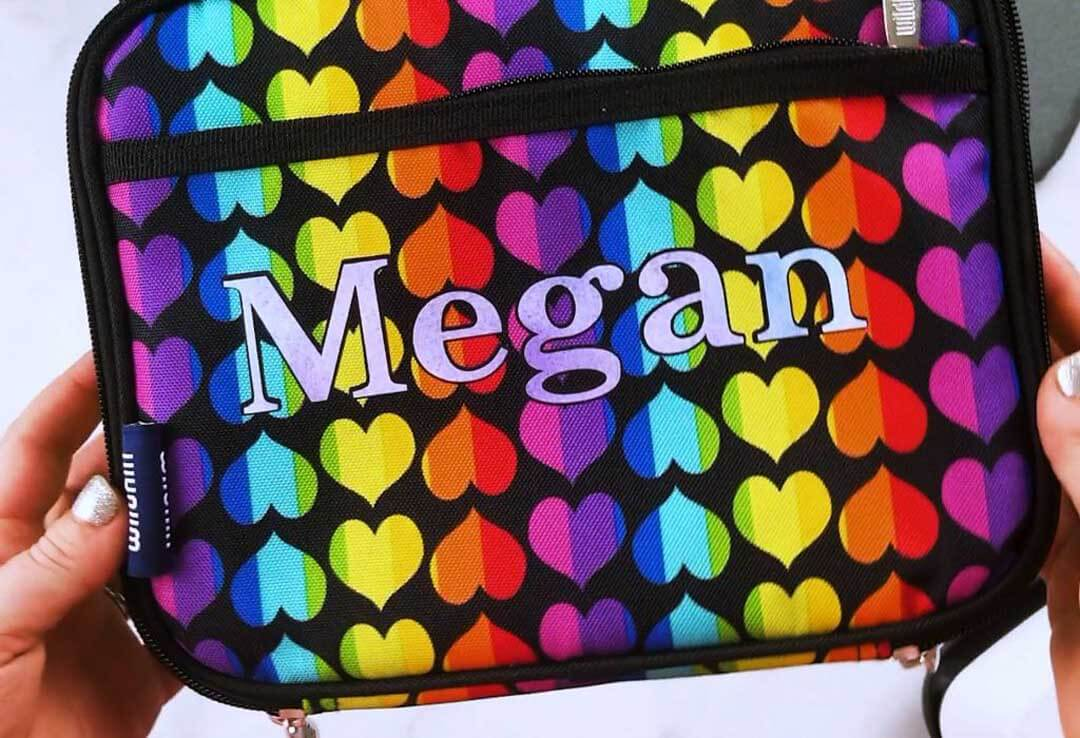 Personalized lunch box for kids using a Cricut machine