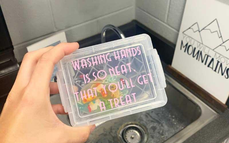 Handwashing treat box using Cricut Joy