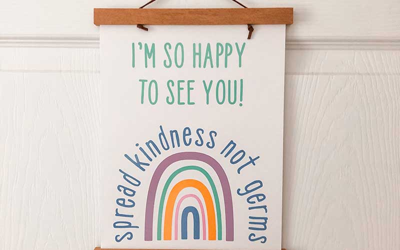 Spread Kindness Door Sign with Cricut smart cutting machines