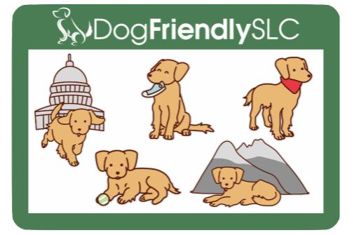 Dog Friendly SLC sticker sheet