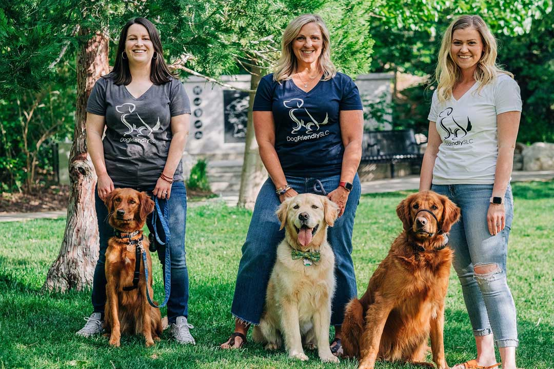Dog Friendly SLC shirts and fellow supporters