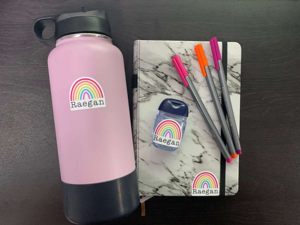 Back-to-school stickers with Cricut
