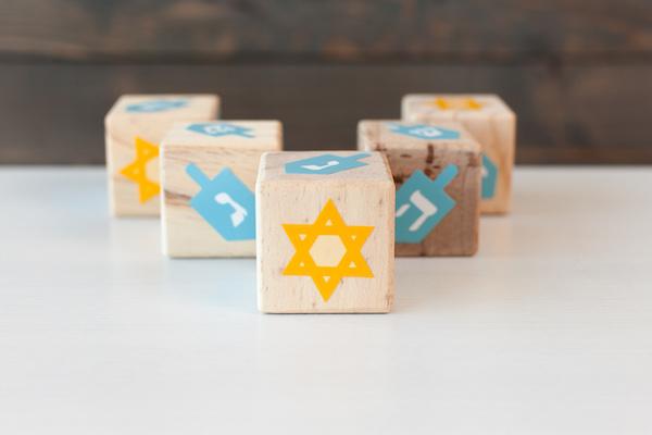 Hanukkah dreidel craft project with Cricut