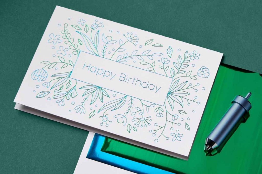 Happy Birthday Card using Cricut Foil Transfer Tool