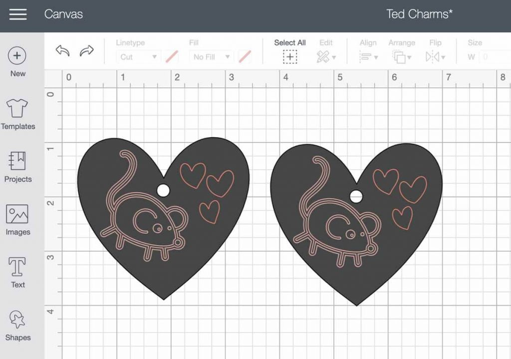 Shrinky Dink charms using Cricut Maker in Design Space