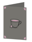 Coffee cup love Cricut insert card image