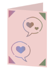 Conversation hearts Cricut insert card image