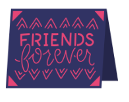 Friends Forever Cricut insert card image